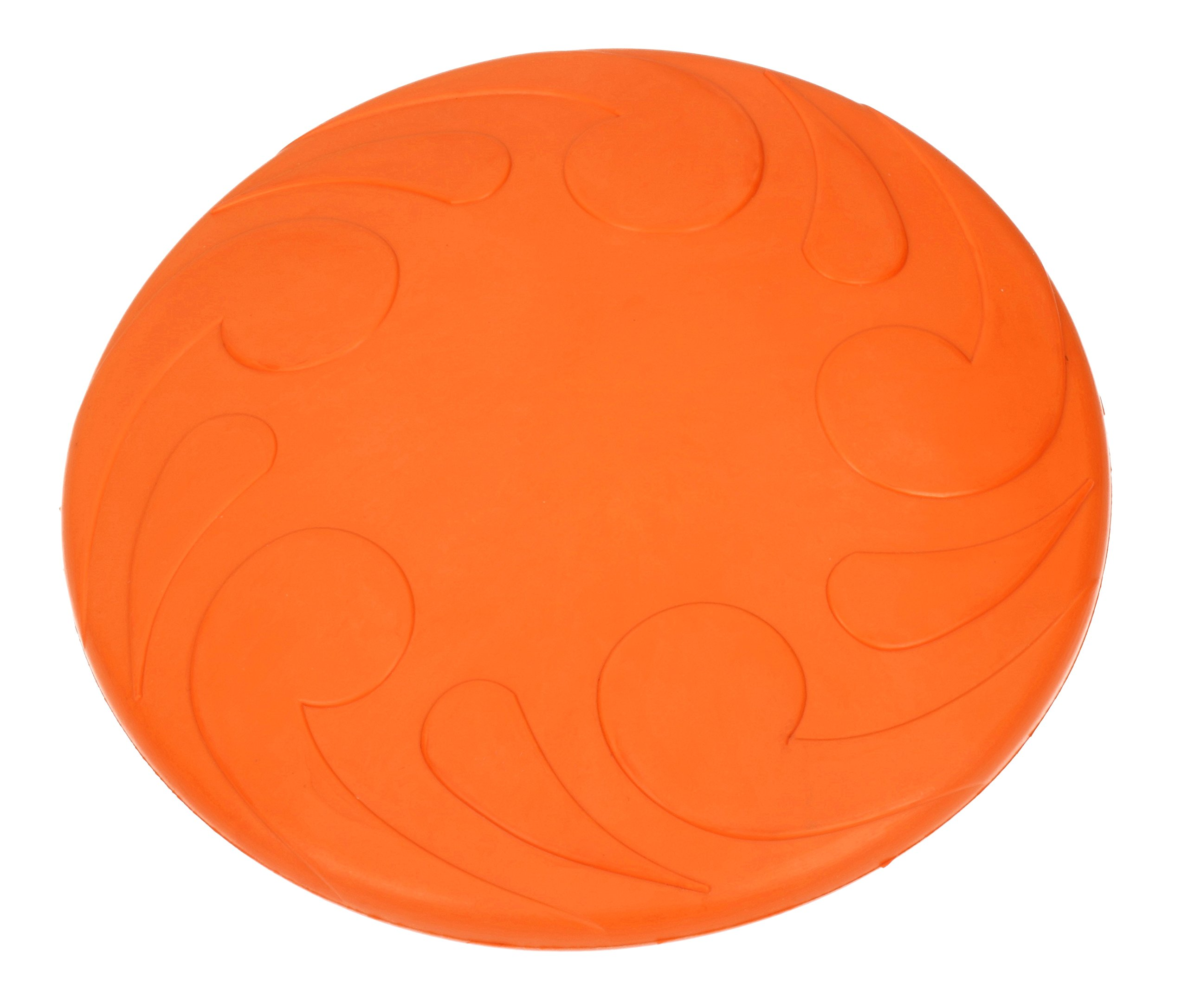 PlayfulSpirit Dog Frisbee: Durable Rubber Flying Disc for Medium to Large Size Dogs, Safe Catch and Great Fetch Toy, Interactive Land and Water Dog Toy for Exercise and Fun Playtime