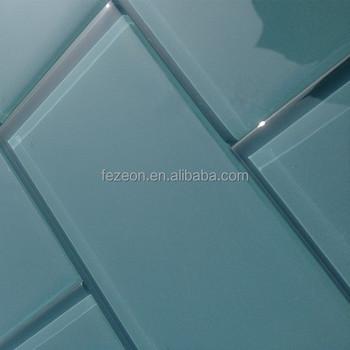 Blauw glas metro tegels moza ek buy product on - Kleur gemengde kamer ...
