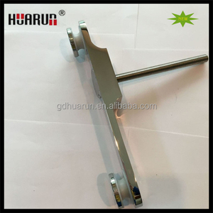 stainless steel wall mounted railing glass clamps, balcony glass railing fitting