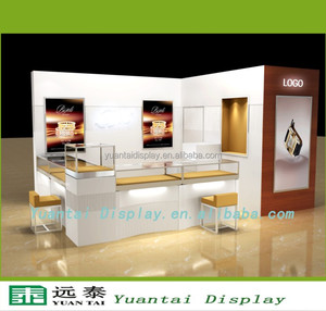 supply high quality baking paint jewelry display for mall kiosk
