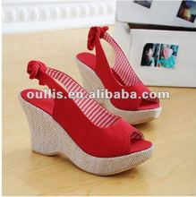 shoe material rubber sole wedge sandals GP516