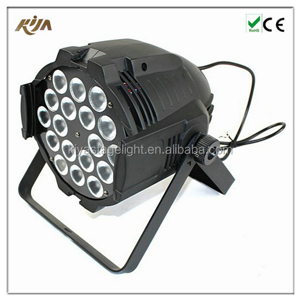 High quality wholesale rgb led par can 18x10w led stage light for party wedding event