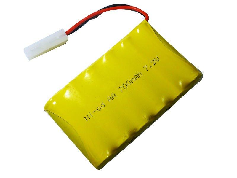 7.2v AA NiCd batterij 500 mAh-oplaadbare batterijen ...