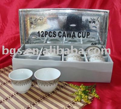 70cc Porcelain Cawa Cup Gold/silver Design