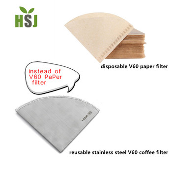 Unbleached V60 coffee filter paper (Size 01, 100 Count, Natural)