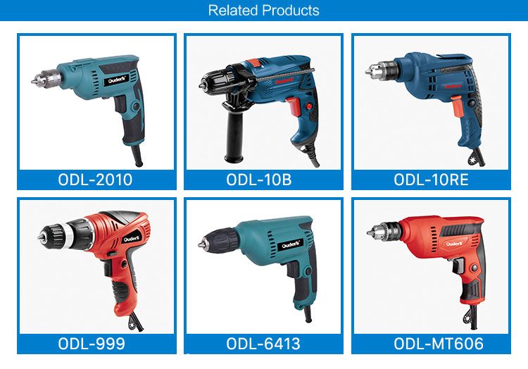 OUDERLI 6.5mm 230W Double Insulation High speed electric drill for DIY using variable speed