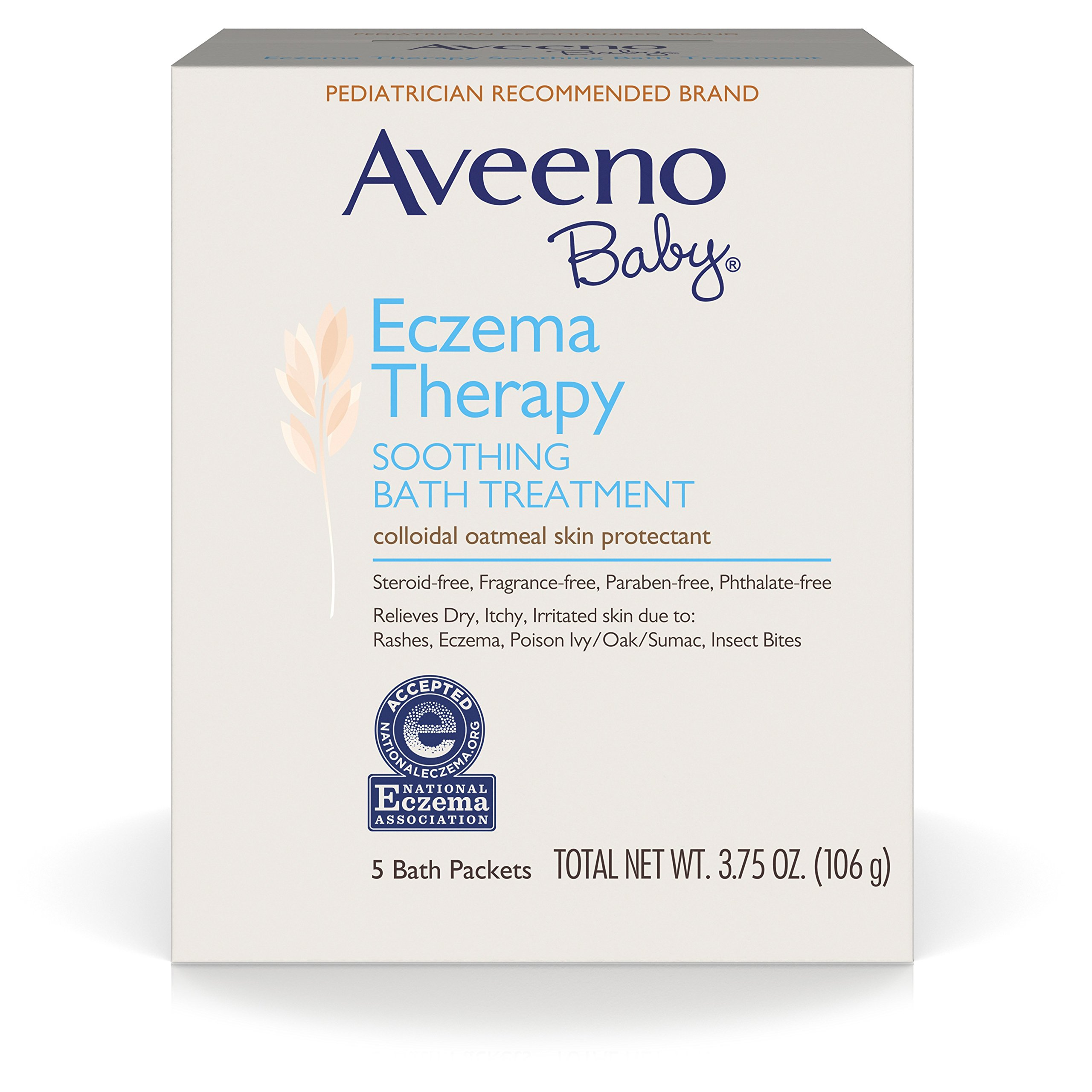Get Quotations · Aveeno Baby Eczema Therapy Soothing Baby Bath Treatment, 5  Count-3.75oz (Pack