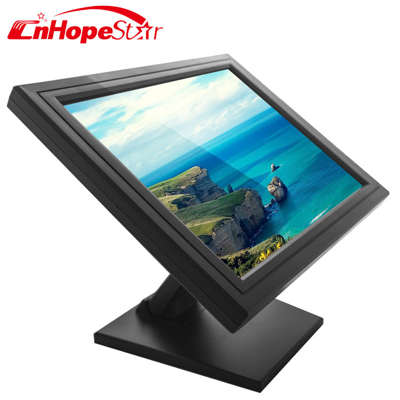 "Best offer now 15"" tft 4-wire resistive touch screen monitor"