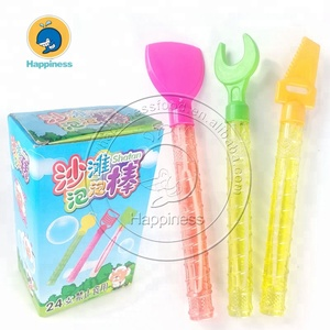 Summer outdoor toys plastic beach tool magic bubble wand bubble water