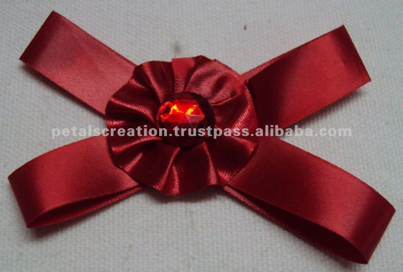 Satin ribbon flower bow