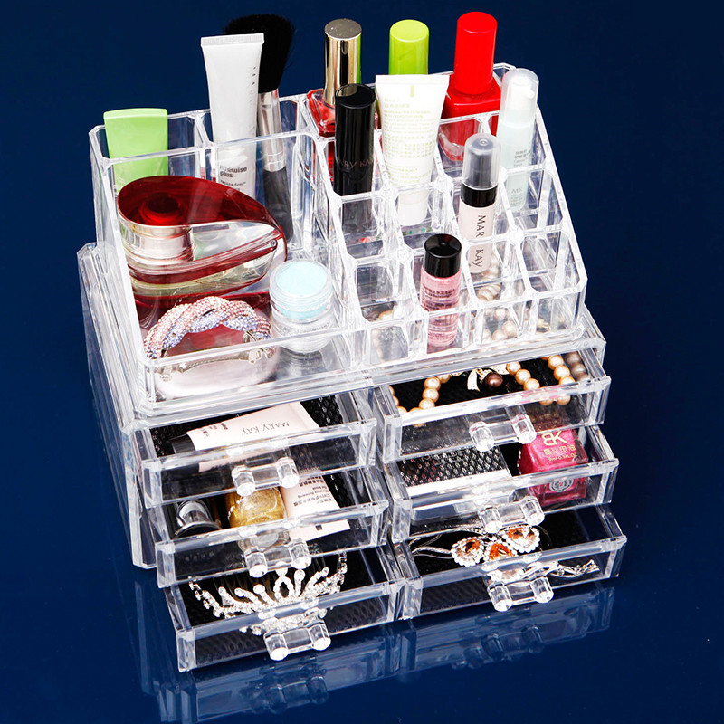 Clear Make Case Organiser Acryl Lade Opslag Sieraden Cosmetische Display Box
