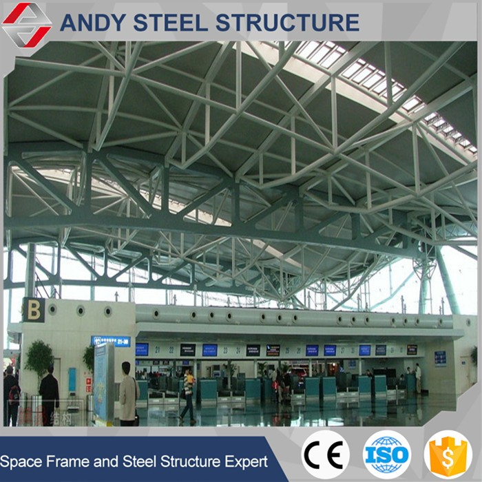 Inexpensive Irregular Shape Tube Truss Building Stainless Steel Roof
