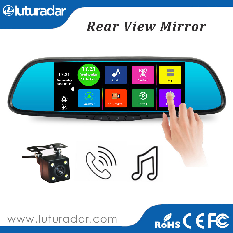 Perfect car mirror camera dual lens HD in car mirror car dvr hot selling dual lens auto driving video recorder camera