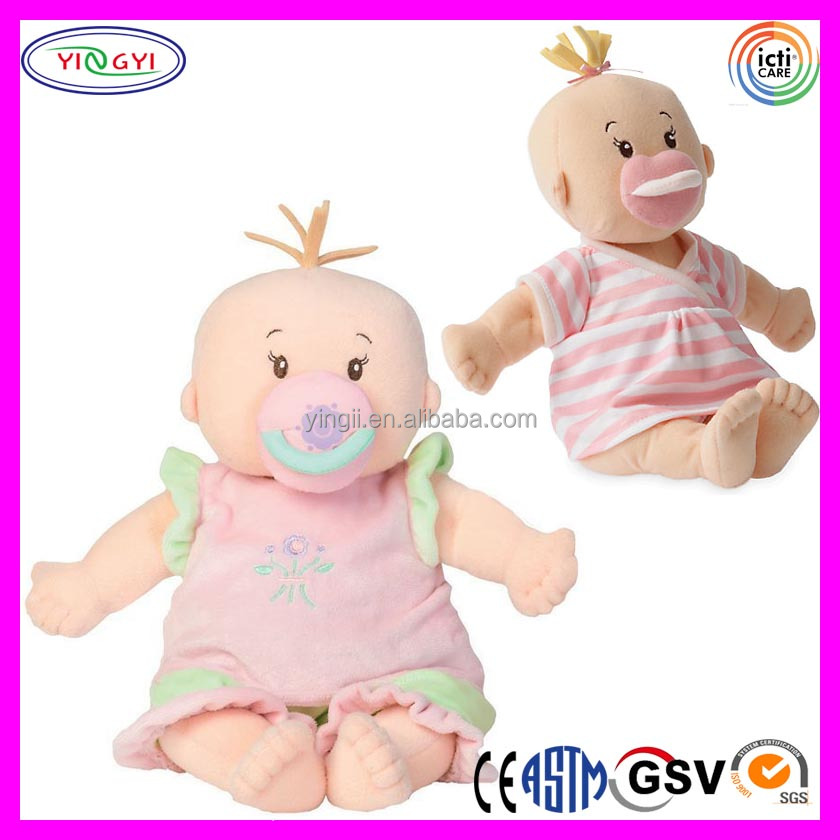 A670 New Baby Doll Reborn Plush Stuffed Little Boy Soft Sucking Doll