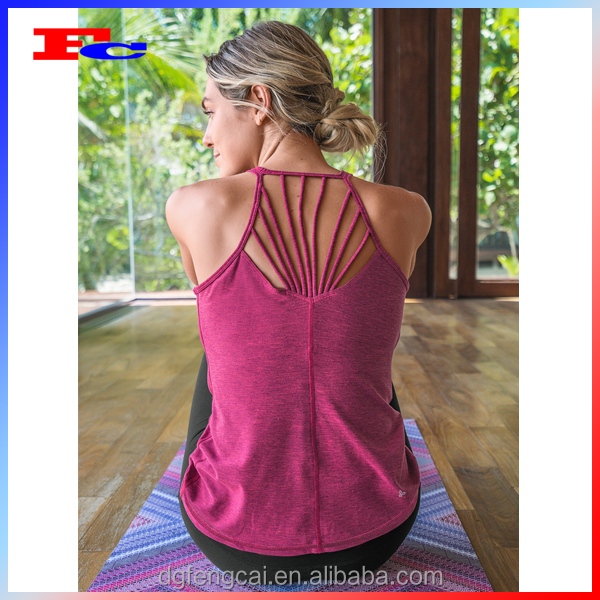Hot Impact Activewear Comfortable Yoga Tank Top Sexy Women Fitness Vest