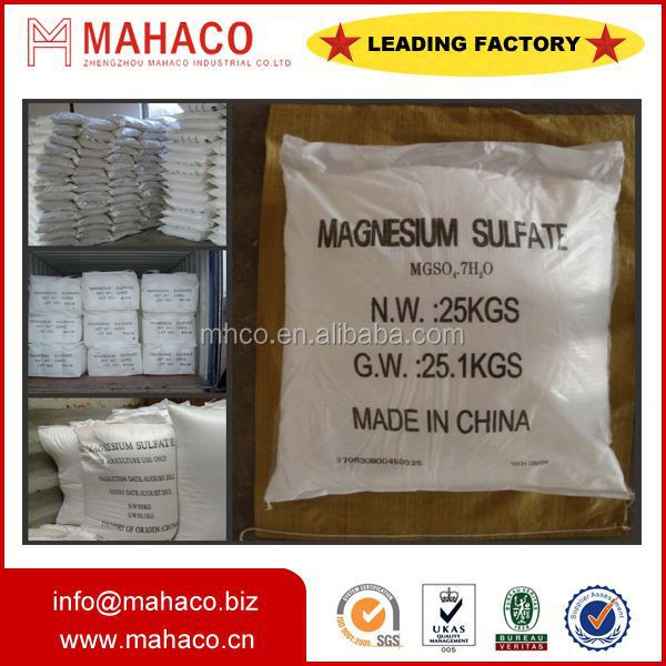 crystal magnesium sulfate chemical formula