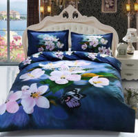 polycotton bed sheet 6 pieces duvet cover set/trade assurance