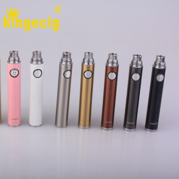 Best quality evod HAHA passthrough battery 1500mah vaccum coating tube