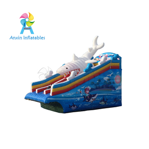 Hot Sale CE approved Giant Adult Inflatable Shark Slide For Pool
