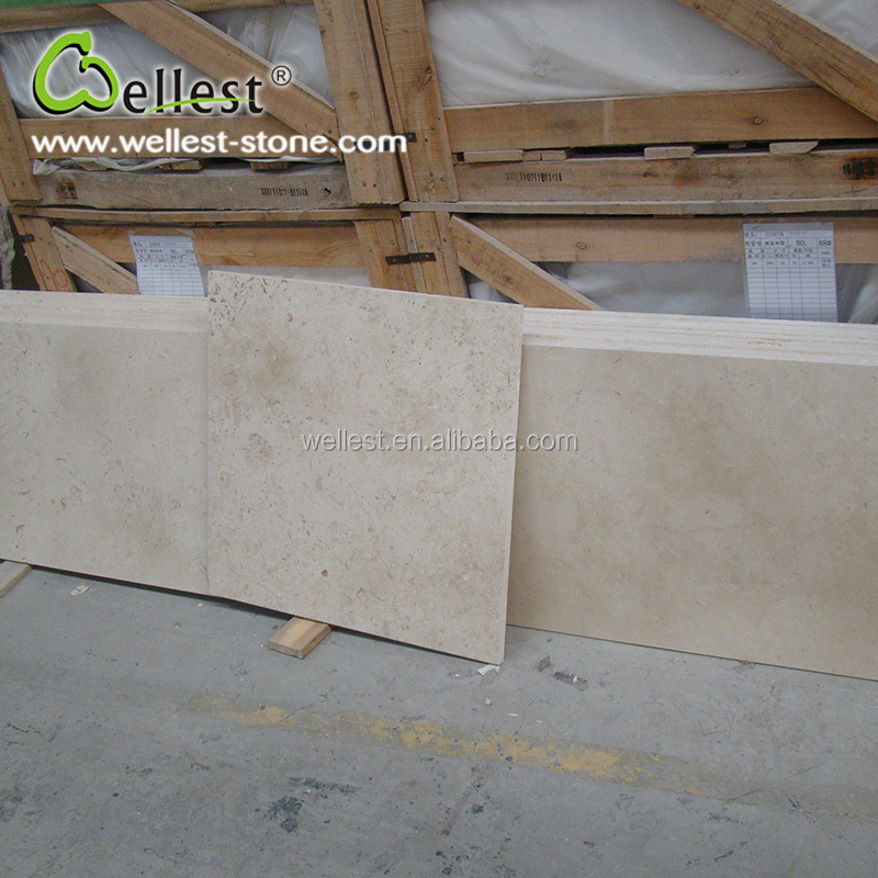 China Factory Manufacture Natural M851 Galala Beige Polished Marble Tile for Interior Decoration