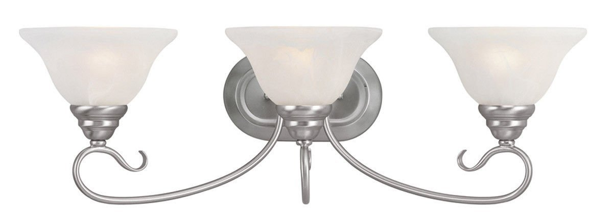 (USA Warehouse) 3L Livex Coronado Bathroom Vanity Lighting Brushed Nickel Vintage 6103-91 -/PT# HF983-1754416201