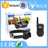 Factory supply digital LCD designer dog collar leather pet product for dog training