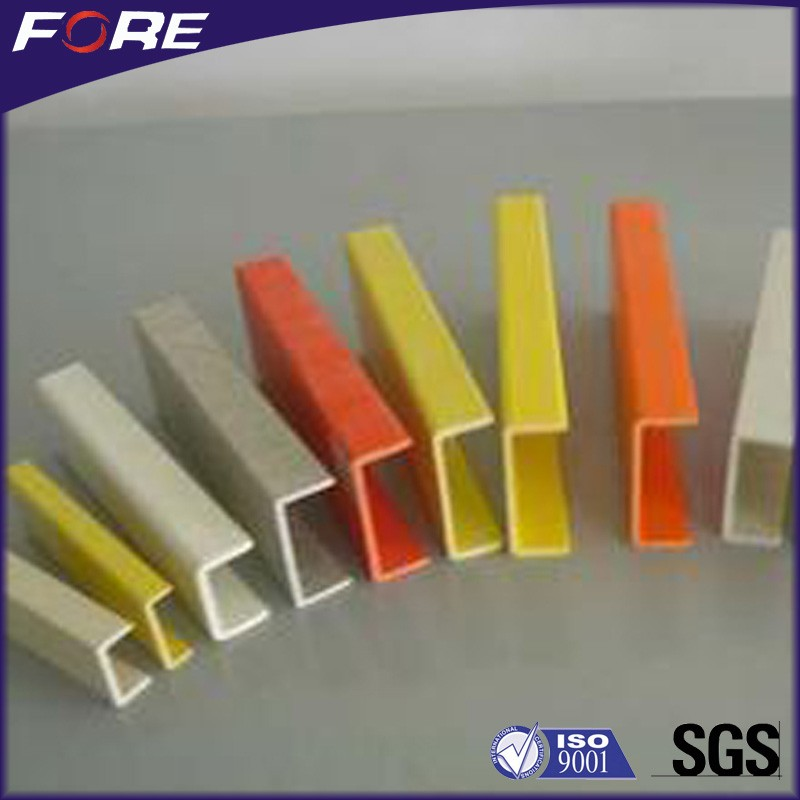 High strength corrosion resistant FRP C channel