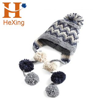 Customize high quality women polar fleece beanie hat pattern gril knitted  hat aa2eac83d3e