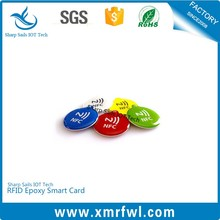 Waterproof plastic RFID Epoxy key fob tag for access control system