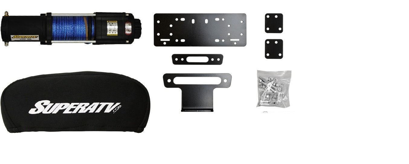 Honda Pioneer 500 2015+ 4500 lb Winch,Winch Mount and Winch Cover
