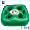 PVC pool floating drink holder square four inflatable ice bucket