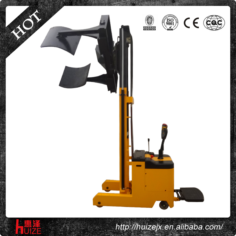 Paper Roll Handling Equipment Manual Paper Reel Flip: Electric High Lift Hydraulic Forklift Paper Roll Clamp