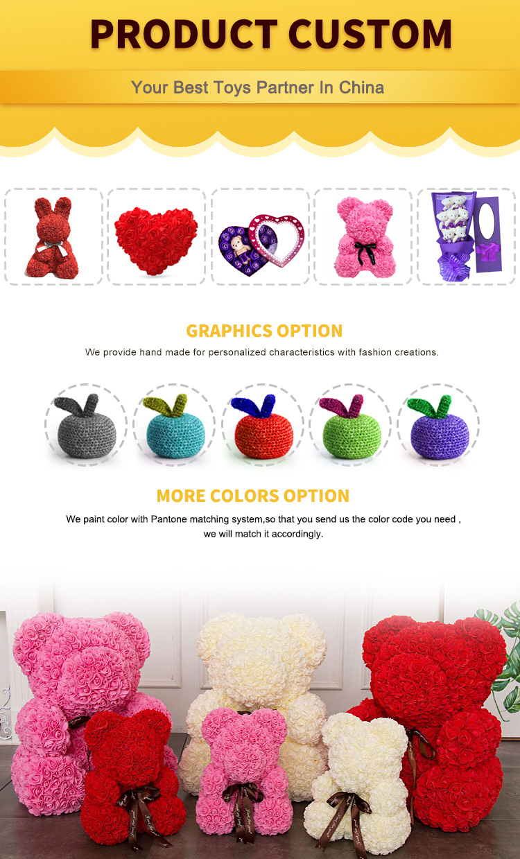 Rose Soap Flower with Teddy Bear 520 Valentine's Day company promotional  gifts love-shaped iron box for girl friend best gift, View artificial rose