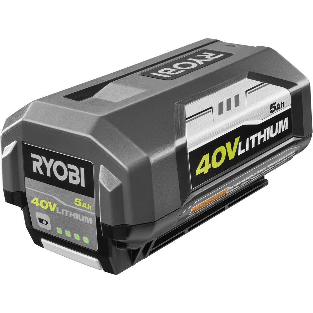 Ryobi 40-Volt Lithium-Ion 5 Ah High Capacity Battery with 40-Volt Lithium-Ion Charger