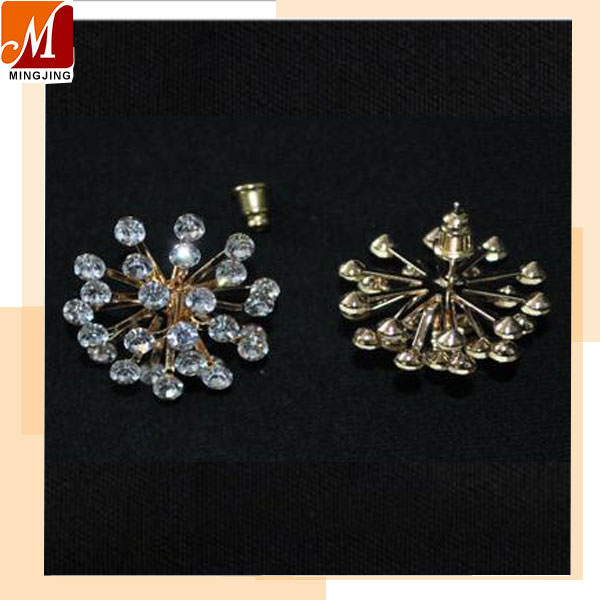 MJ-E-003 Wholesale cheap Artificial rhinestone earing stud