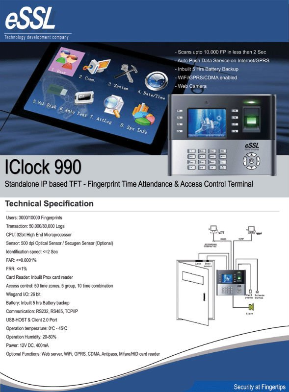 Iclock 990 - Buy Biometric Product on Alibaba com