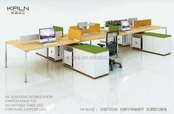 Nk Modern European Style Office Furniture Customized Open Workstation Desk