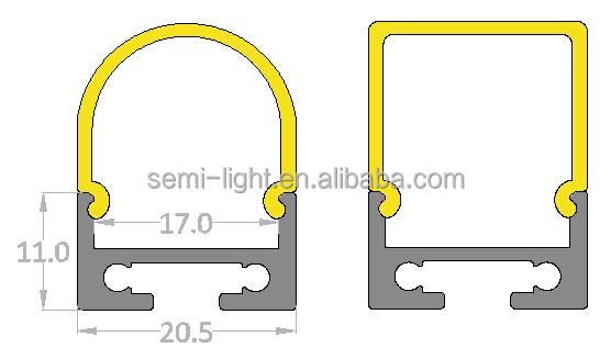 Led Bar Housing Profile,Led Pendant Light Aluminum Profile