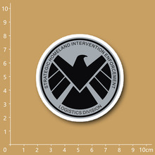 Marvel SHIELD logo Notebook refrigerator skateboard trolley case backpack Tables book PVC sticker
