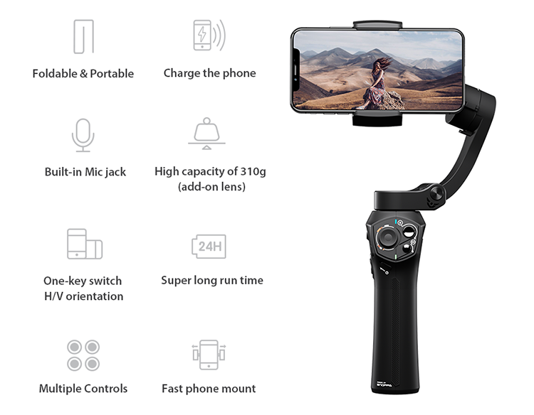 2019 New Snoppa Atom In Stocks Facebook Youtube Hot Sale Products Gyro  Stabilizer For Phone - Buy Gimbal Camera Stabilizer,Gyro Stabilizer,Gyro
