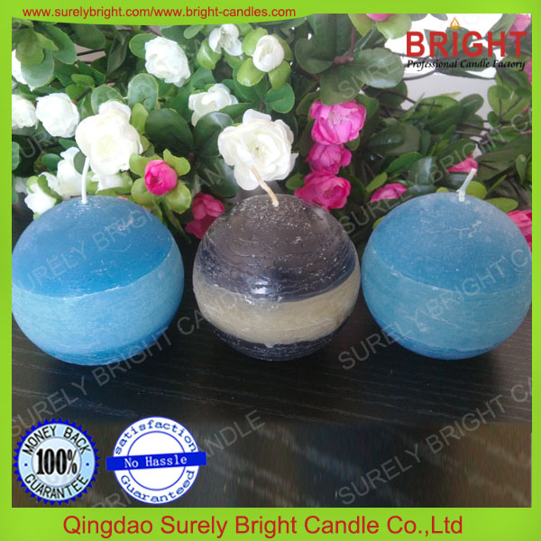 2017 home decoration paraffin wax ball candle