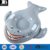 heavy duty vinyl inflatable shark snow tube durable plastic blow up megalodon sled toys for kids