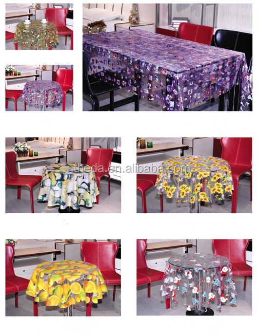 Disposable Fitted Table Covers For Sale Plastic Clear Printed Table