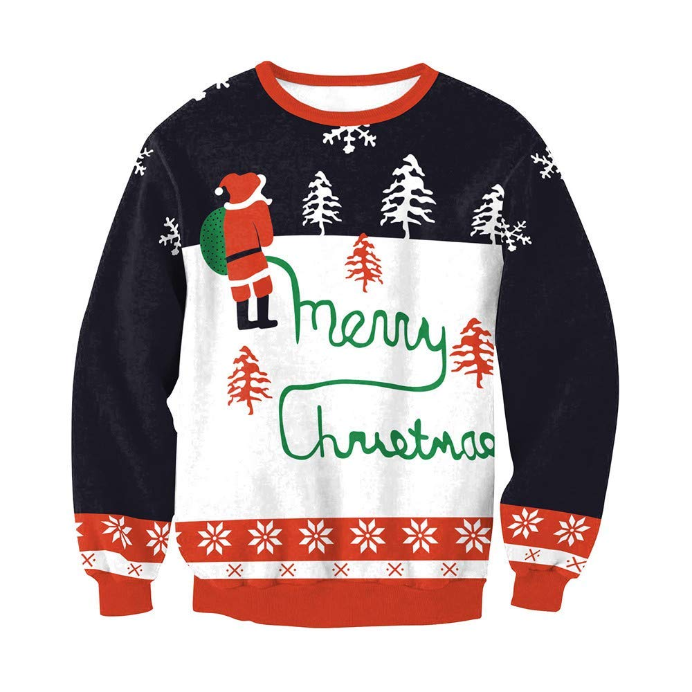 b0bf539ba3362 Get Quotations · Women s Christmas Sweatshirt Clearance! Jiayit Merry Christmas  Plus Size Pullover Printed Sweatshirt Tops Blouse