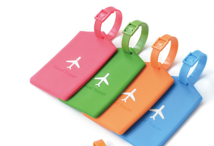 Hot Sale Soft PVC Airplane Luggage Tag Custom Logo