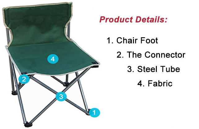 Outdoor Durable Folding Canvas Camp Chair Beach Chair For