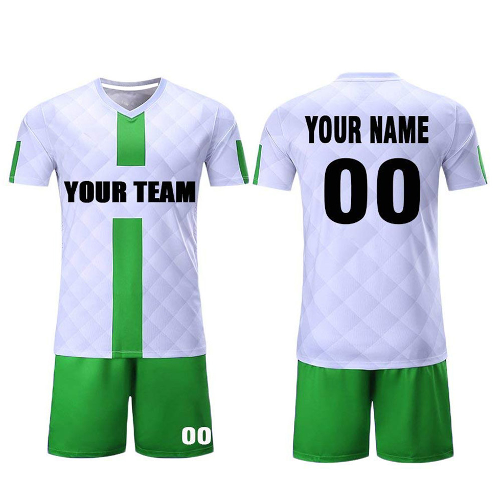 Conception OEM Usine Maillot De Football sur mesure En Gros 100% Polyester Sublimation Maillot De Football