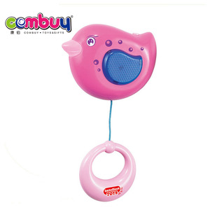 Most popular cartoon musical baby bells plastic flying bird toy