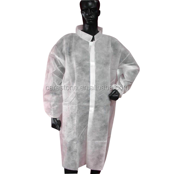 disposable doctor lab coats for hospital with non woven material