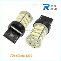 Dual Color 7443 7443R T20 60-SMD Switchback LED Turn Light Bulb & Resistors